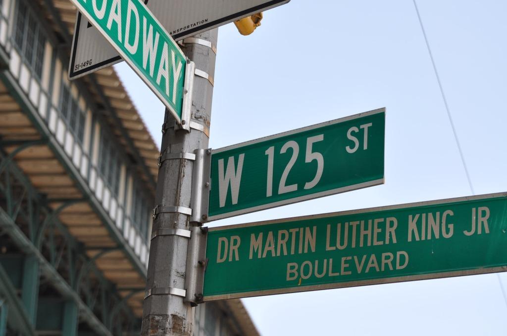 Streets signs representing Harlem NY