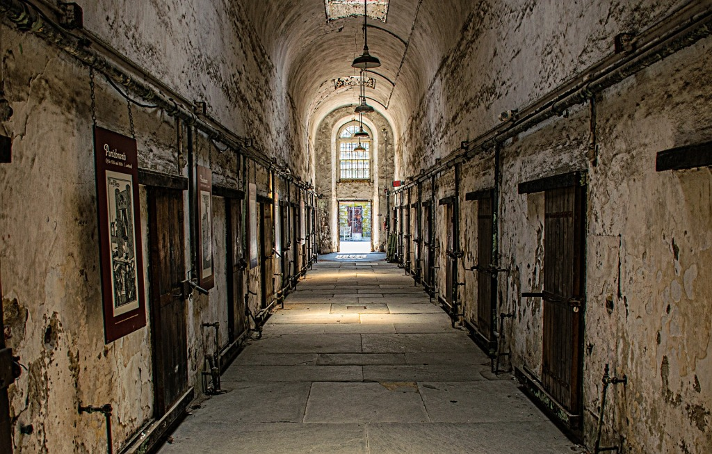 Hallway in Eastern State Penitentiary