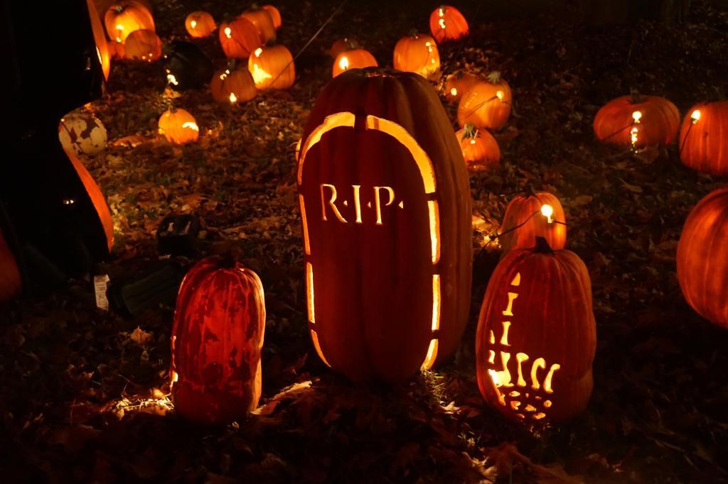 Jack-o-lantern Halloween display